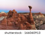 A Set Of Hoodoos Glows With Th...