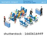 stewardesses serve passengers... | Shutterstock .eps vector #1660616449