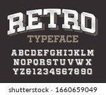 retro alphabet font. slab serif ...   Shutterstock .eps vector #1660659049