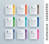 9 infographics rectangle paper...   Shutterstock .eps vector #1660669303