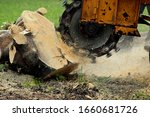Grinding A Tree Stump For...
