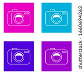camera icon . simple outline...