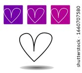 a heart icon . simple outline...