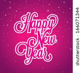 happy new year | Shutterstock .eps vector #166071344