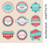 set stickers and badges for... | Shutterstock .eps vector #166074173