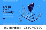 credit card security isometric... | Shutterstock .eps vector #1660747870
