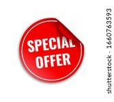 red banner special offer vector ... | Shutterstock .eps vector #1660763593