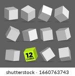 white 3d blocks or cubes...   Shutterstock .eps vector #1660763743