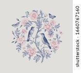 birds and butterflies are in... | Shutterstock .eps vector #1660767160