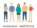 set of men and women  different ... | Shutterstock .eps vector #1660769116
