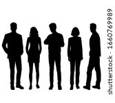 vector silhouettes of  men and... | Shutterstock .eps vector #1660769989
