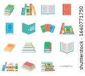 different books set  vector...   Shutterstock .eps vector #1660771750