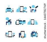 car sharing concept...   Shutterstock .eps vector #1660782769