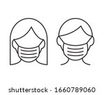 people face with mask icon... | Shutterstock .eps vector #1660789060