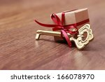 Small Gift Box And Vintage Key...