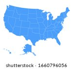 political map of united states... | Shutterstock .eps vector #1660796056