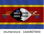 vector swaziland flag ... | Shutterstock .eps vector #1660807840