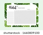 habit tracker. monthly planner... | Shutterstock .eps vector #1660809100