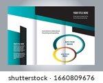 vector empty tri fold brochure... | Shutterstock .eps vector #1660809676