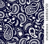 paisley pattern with skulls ... | Shutterstock .eps vector #1660816720
