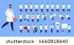 doctor in various poses.... | Shutterstock .eps vector #1660818640