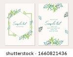 botanical card template....   Shutterstock .eps vector #1660821436