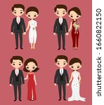 cute chinese couple cartoon in...   Shutterstock .eps vector #1660822150