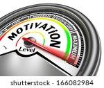 motivation conceptual meter...   Shutterstock . vector #166082984