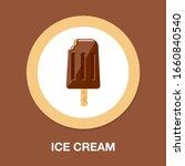 ice cream icon   dessert object ... | Shutterstock .eps vector #1660840540