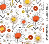 Kids Doodle Flowers And Bees...