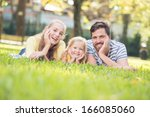 close up portrait of a smiley... | Shutterstock . vector #166085060