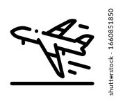 take off airplane airport icon... | Shutterstock .eps vector #1660851850