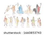 Ancient Greek Gods Set Concept...
