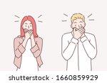 keep a secret be quiet concept. ... | Shutterstock .eps vector #1660859929