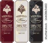 vector set of vertical wine... | Shutterstock .eps vector #1660865683