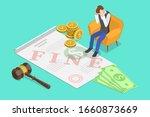 isometric vector concept of... | Shutterstock .eps vector #1660873669