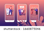 people getting visa mobile app... | Shutterstock .eps vector #1660875046