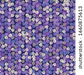 Purple Floral Seamless Vector...