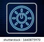 glowing neon line dial knob...