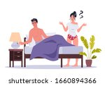 couple of man and woman lying... | Shutterstock .eps vector #1660894366
