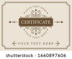 vintage certificate.... | Shutterstock .eps vector #1660897606