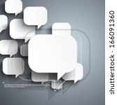 floating speech bubble... | Shutterstock .eps vector #166091360