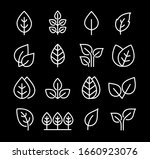 set icons of leaves  branches... | Shutterstock .eps vector #1660923076