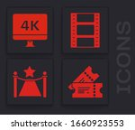 set cinema ticket   computer pc ... | Shutterstock .eps vector #1660923553