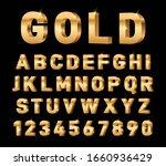gold 3d font. glossy rich... | Shutterstock .eps vector #1660936429