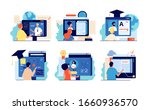 distance school. internet... | Shutterstock .eps vector #1660936570