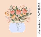 cute romantic bouquet in the...   Shutterstock .eps vector #1660940236