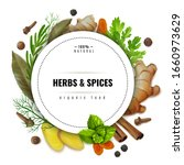 herbs and spices illustration... | Shutterstock .eps vector #1660973629