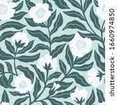 vintage floral seamless pattern ...   Shutterstock .eps vector #1660974850