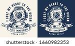 vintage sea monochrome badge...   Shutterstock .eps vector #1660982353